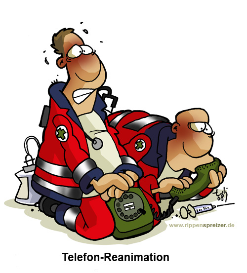Telefon-Reanimation, Copyright: www.rippenspreizer.de