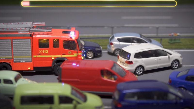 Die Rettungsgasse rettet Leben – Ein Miniatur Wunderland Stop Motion Film
